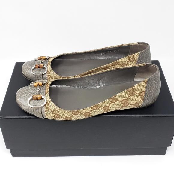 c758094b2a3720 Gucci Shoes | 100 Authentic Gg Canvas Flat Shoe Size 65 | Poshmark